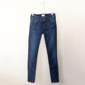 Hudson Collin Midrise Skinny Flap Pocket Jeans